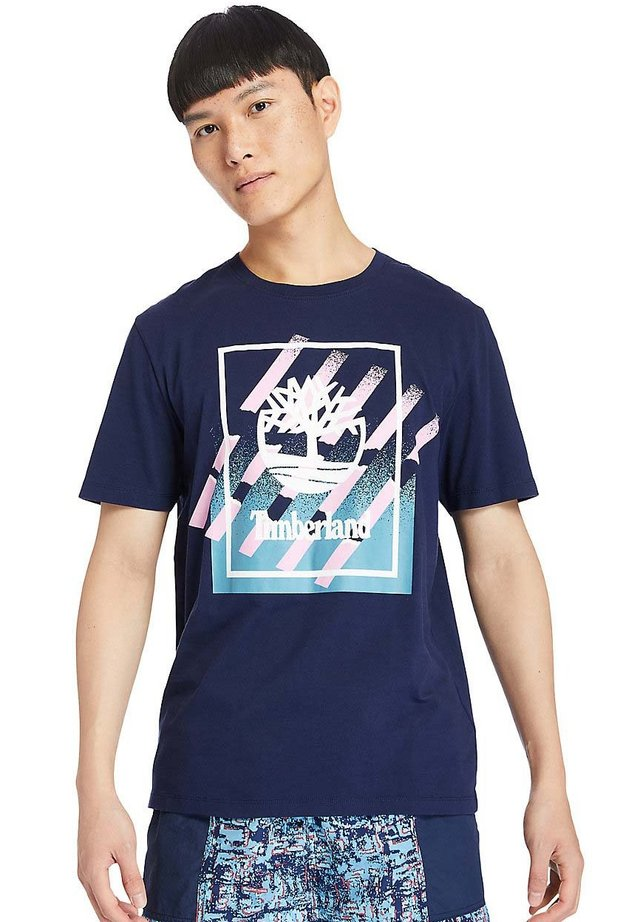T-shirt imprimé - peacoat