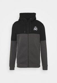 Kings Will Dream - FARNELL ZIP THROUGH HOOD - Zip-up sweatshirt - asphalt/jet black - 4