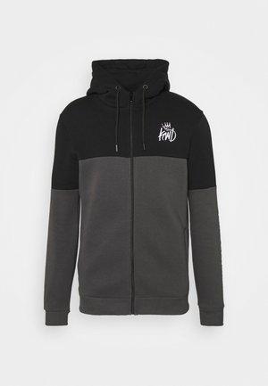 FARNELL ZIP THROUGH HOOD - Zip-up sweatshirt - asphalt/jet black