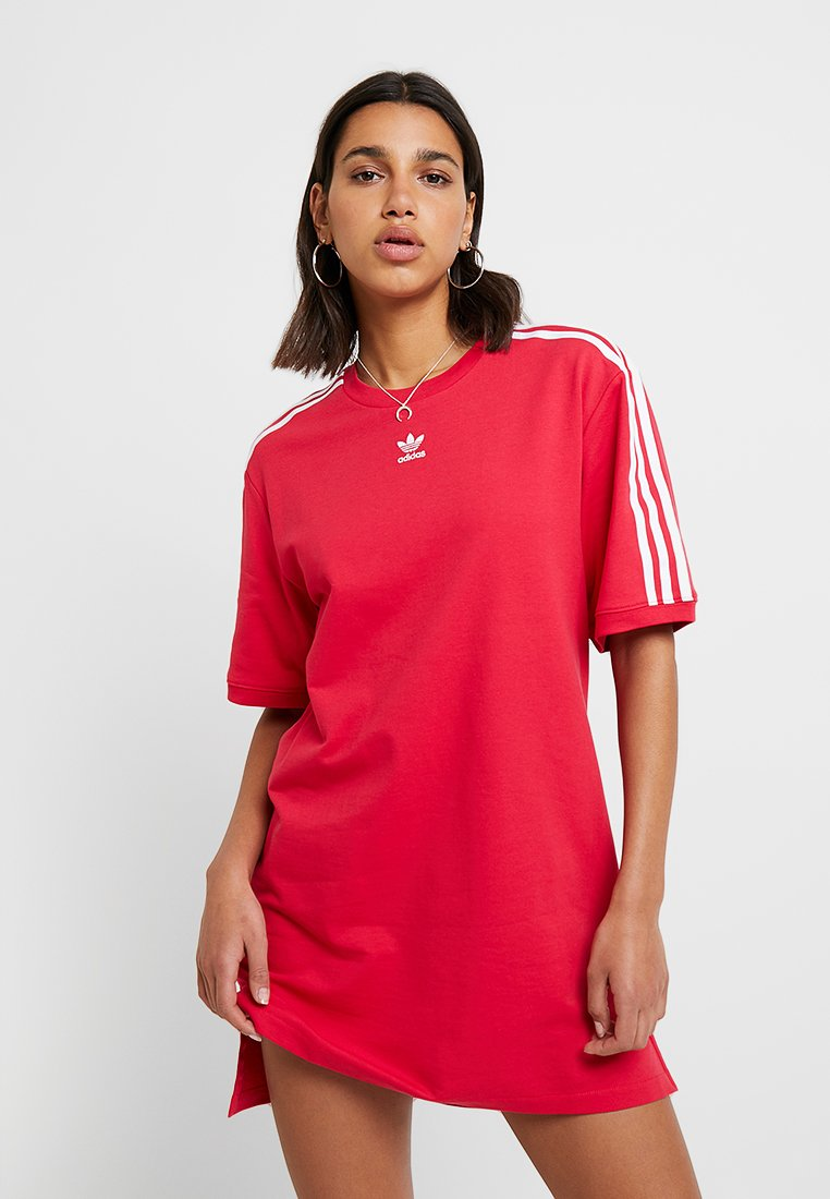 adidas Originals - TEE DRESS - Freizeitkleid - energy pink
