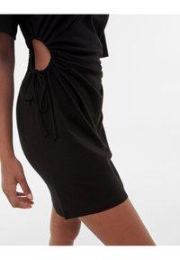 Bershka - Jersey dress - black - 3