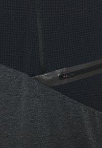 Salewa - AGNER HYBRID DRY ZIP TEE - Print T-shirt - black out melange - 2