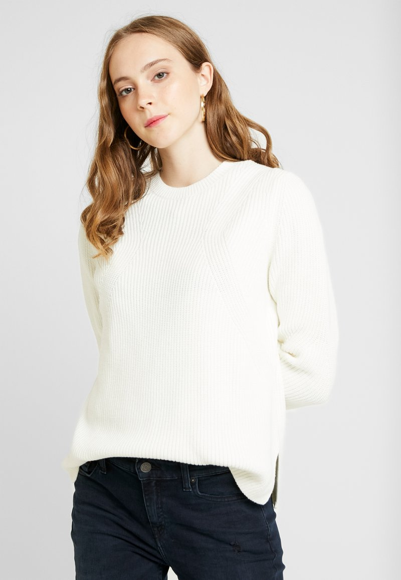 Tommy Jeans - SIDE SLIT CREW - Pullover - snow white