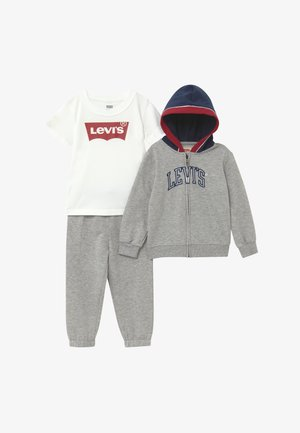 COLOR BLOCKED HOODIE SET - Tepláková souprava - grey heather