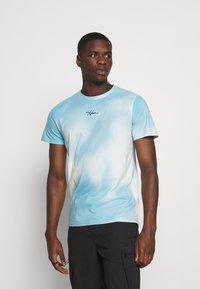 Hollister Co. - CREW WASH - Print T-shirt - greenish blue - 0