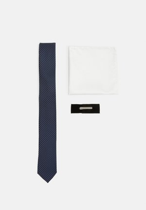 JACRICK GIFT BOX SET - Pocket square - navy blazer
