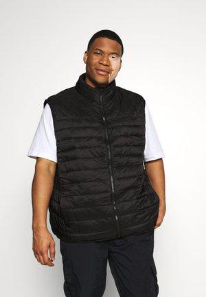 GILET PUFFER BLACK - Waistcoat - black