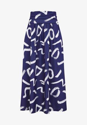 ROLL TOP - Maxi skirt - blue