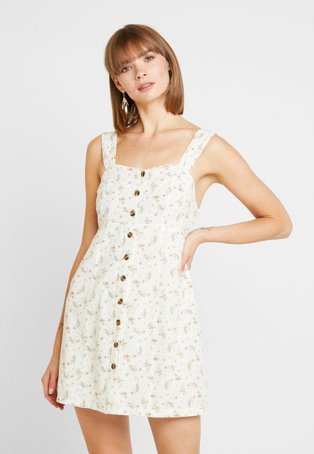 BUTTON FRONT MINI DRESS - Day dress - cream