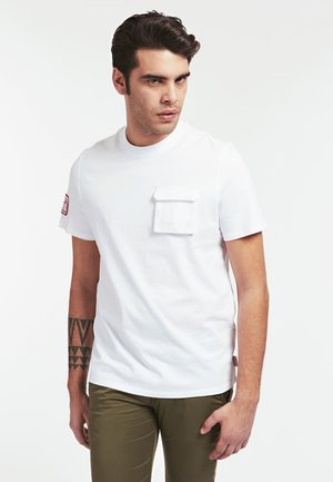 T-SHIRT TASCA FRONTALE - T-Shirt print - bianco