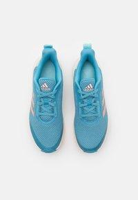 adidas Performance - FORTARUN UNISEX - Neutral running shoes - hazy blue/glow pink/hazy sky - 3