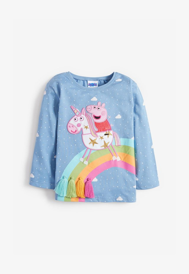PEPPA PIG RAINBOW - Long sleeved top - blue