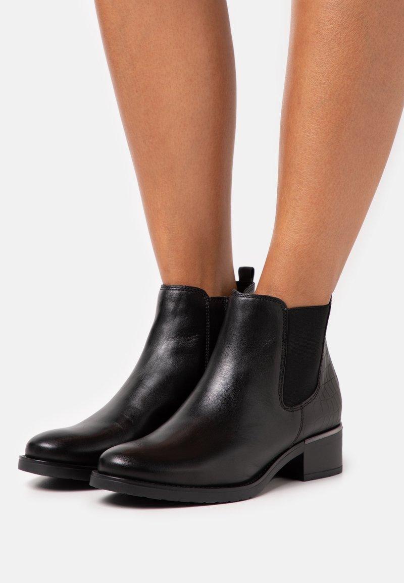 Anna Field - LEATHER - Kotníkové boty - black