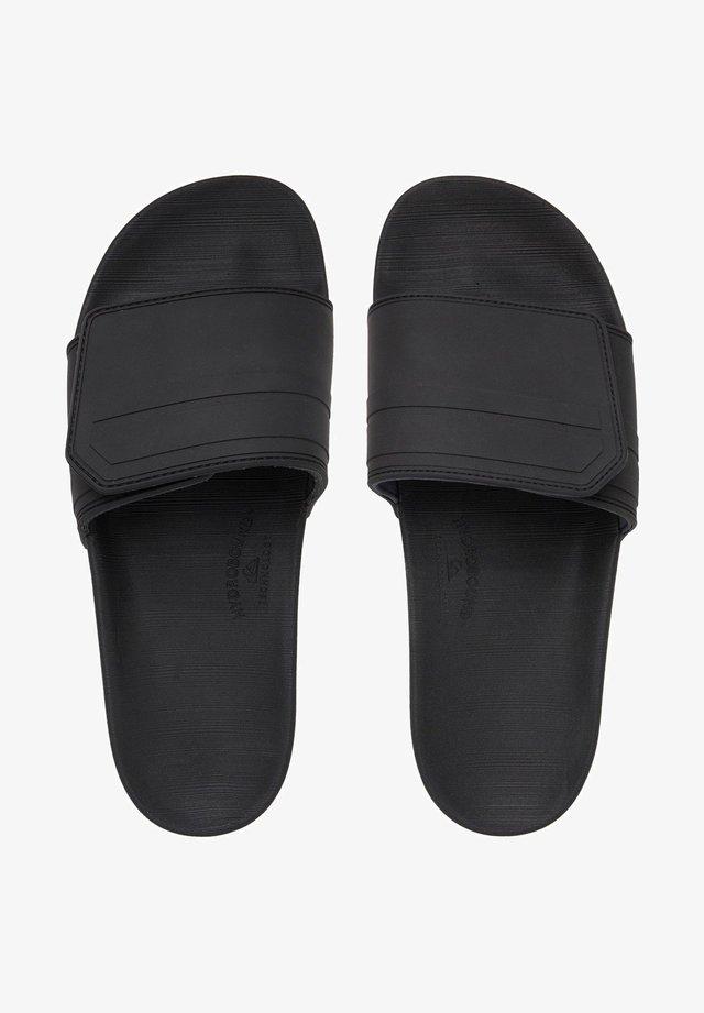 RIVI SLIDE ADJUST - Badslippers - black/grey/black