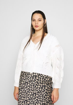 PCRACHEL CARDIGAN - Cardigan - cloud dancer