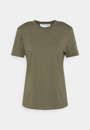 SLFMY PERFECT SS TEE BOX CUT COLOR B - T-shirt - bas - kalamata