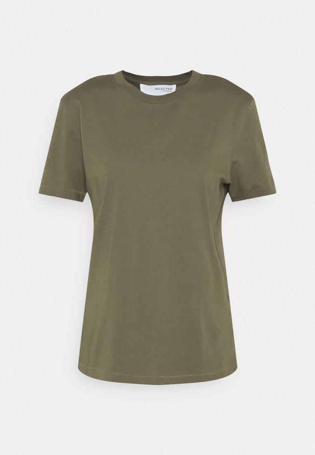 SLFMY PERFECT SS TEE BOX CUT COLOR B - T-shirt basic - kalamata