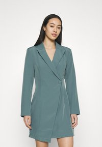 Missguided - STRUCTURED TAILORED DRESS - Robe fourreau - teal - 0