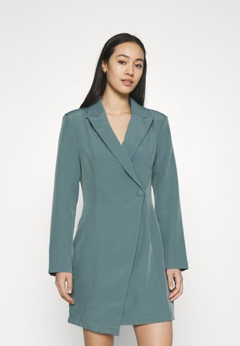 STRUCTURED TAILORED DRESS - Sukienka etui - teal