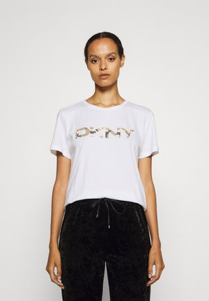 Print T-shirt - white/ivory/multi