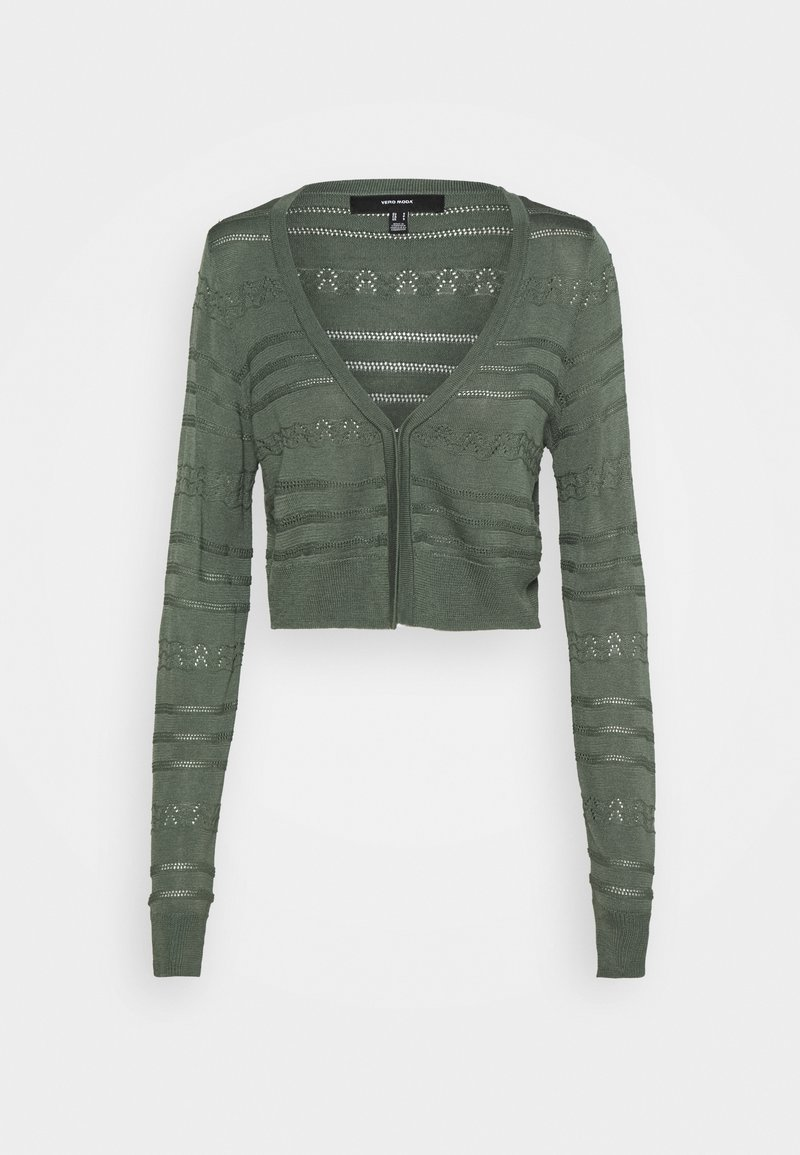 Vero Moda - VMBALONA V NECK BOLERO  - Cardigan - light green