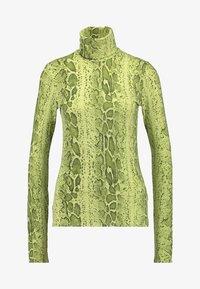 Weekday - CHIE PRINTED TURTLENECK - Long sleeved top - green - 3