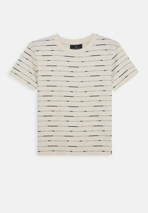 Print T-shirt - off white/black