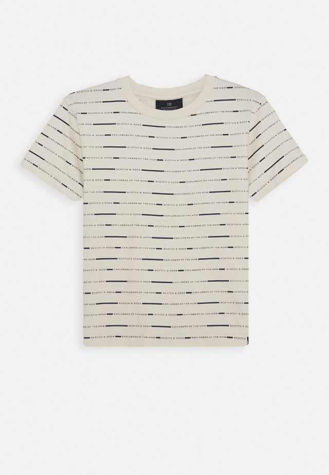 T-shirts med print - off white/black