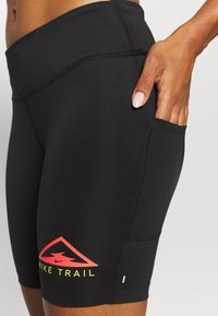 Nike Performance - FAST SHORT TRAIL - Leggings - black - 4