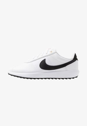 CORTEZ - Obuwie do golfa - white/black/metallic gold