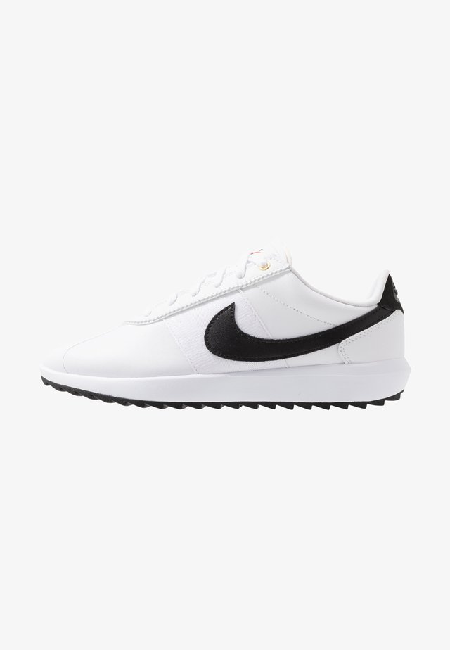 CORTEZ - Scarpe da golf - white/black/metallic gold