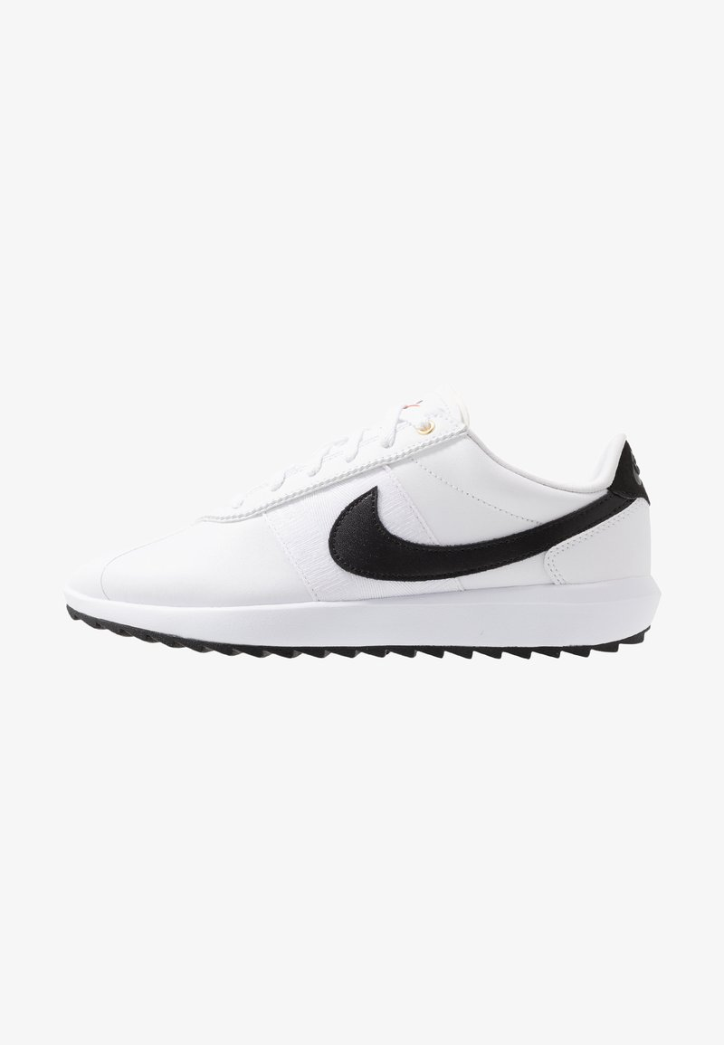 Nike Golf - CORTEZ - Obuwie do golfa - white/black/metallic gold