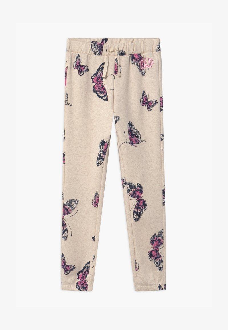 GAP - GIRLS LOGO - Teplákové kalhoty - mottled beige