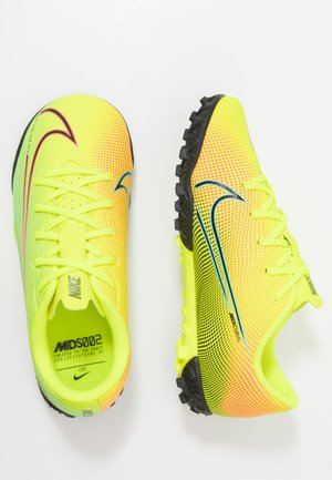 MERCURIAL JR VAPOR 13 ACADEMY TF UNISEX - Astro turf trainers - lemon /black/aurora green