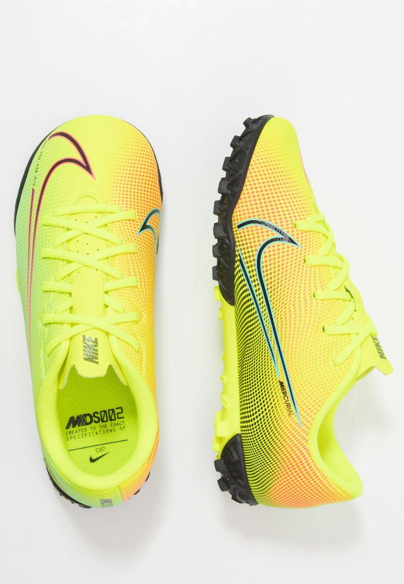 Nike Performance - MERCURIAL JR VAPOR 13 ACADEMY TF UNISEX - Astro turf trainers - lemon /black/aurora green