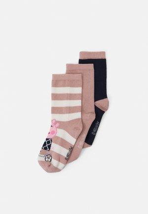 NMFPEPPAPIG JAMILLA SOCKS 3 PACK - Socks - adobe rose