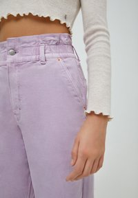 PULL&BEAR - PAPERBAG - Relaxed fit jeans - purple - 4