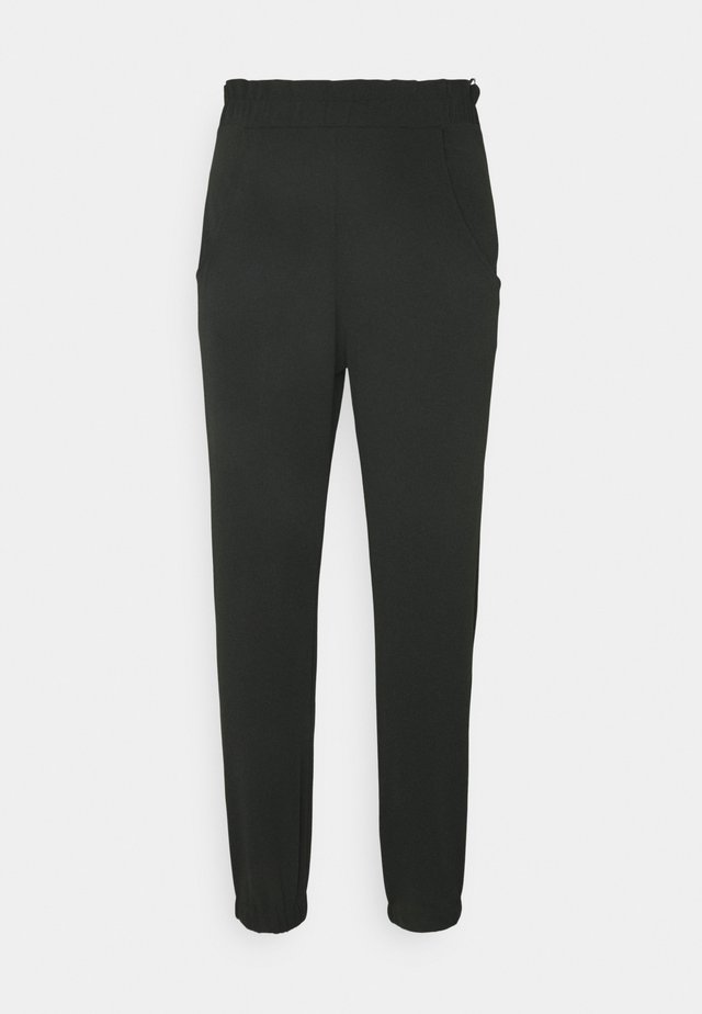 SMART PAPERBAG SCUBA CREPE JOGGER - Trousers - black