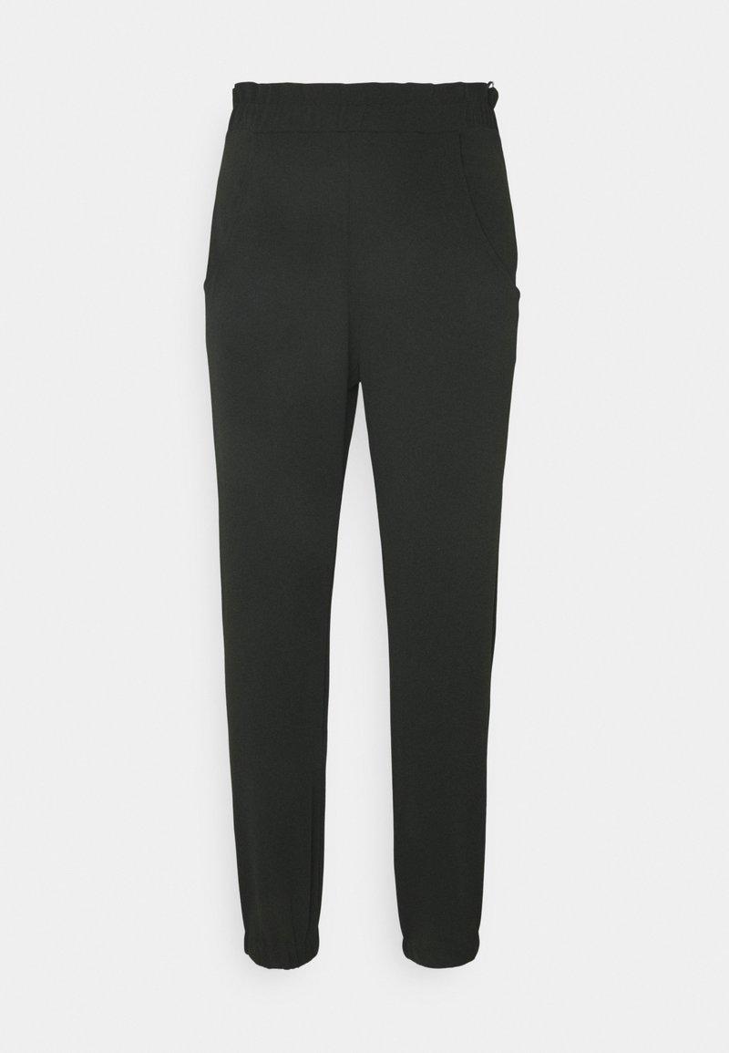 Miss Selfridge - SMART PAPERBAG SCUBA CREPE JOGGER - Pantaloni - black