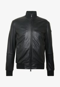 Emporio Armani - CABAN PELLE - Leather jacket - nero - 4