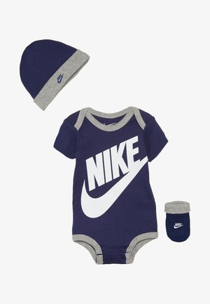FUTURA LOGO HAT BOOTIE BABY SET - Body - blue void