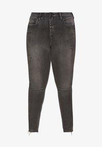 Zizzi - LONG AMY - Jeans Skinny Fit - grey denim - 3