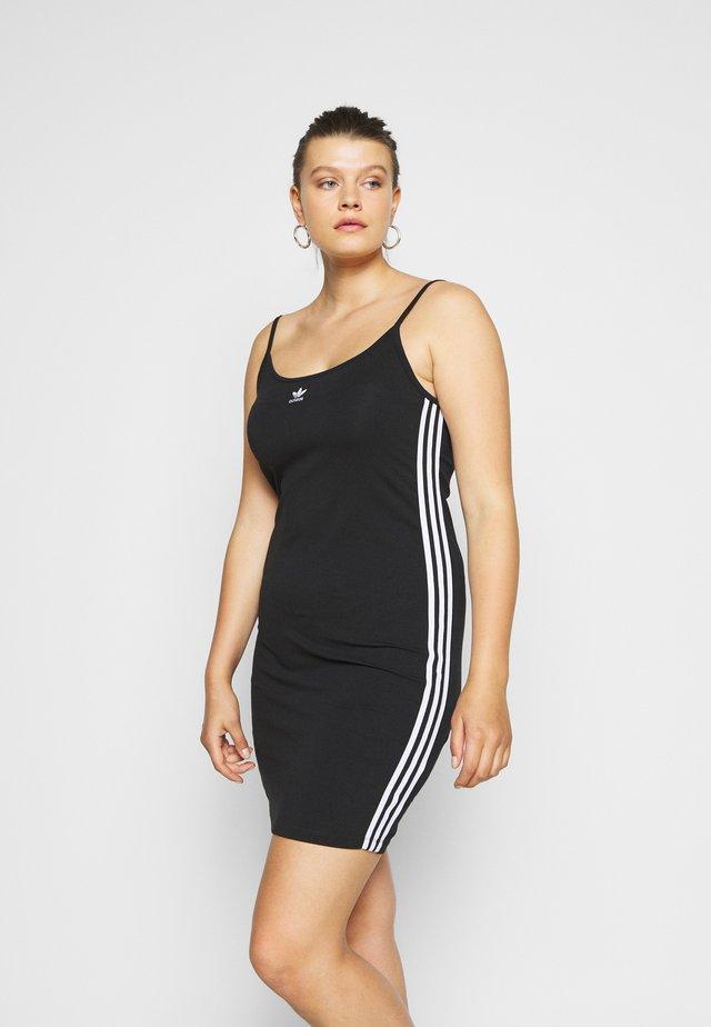 SPORTS INSPIRED DRESS - Shift dress - black/white