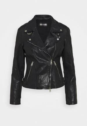 NEW UNDRESS ME - Leather jacket - black