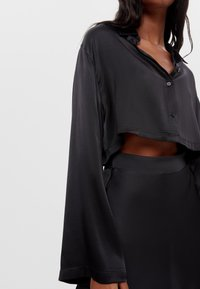 Bershka - Button-down blouse - black - 3