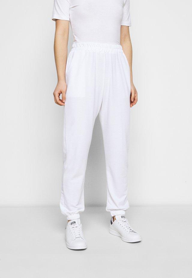 BASIC - Pantalon de survêtement - white