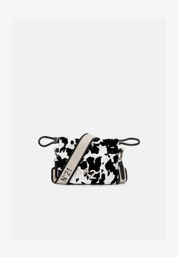 COULISSE SMALL - Across body bag - black/white