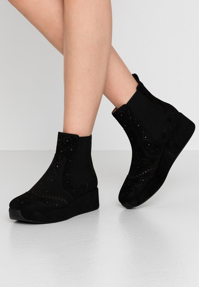 CARTIER - Wedge Ankle Boots - black