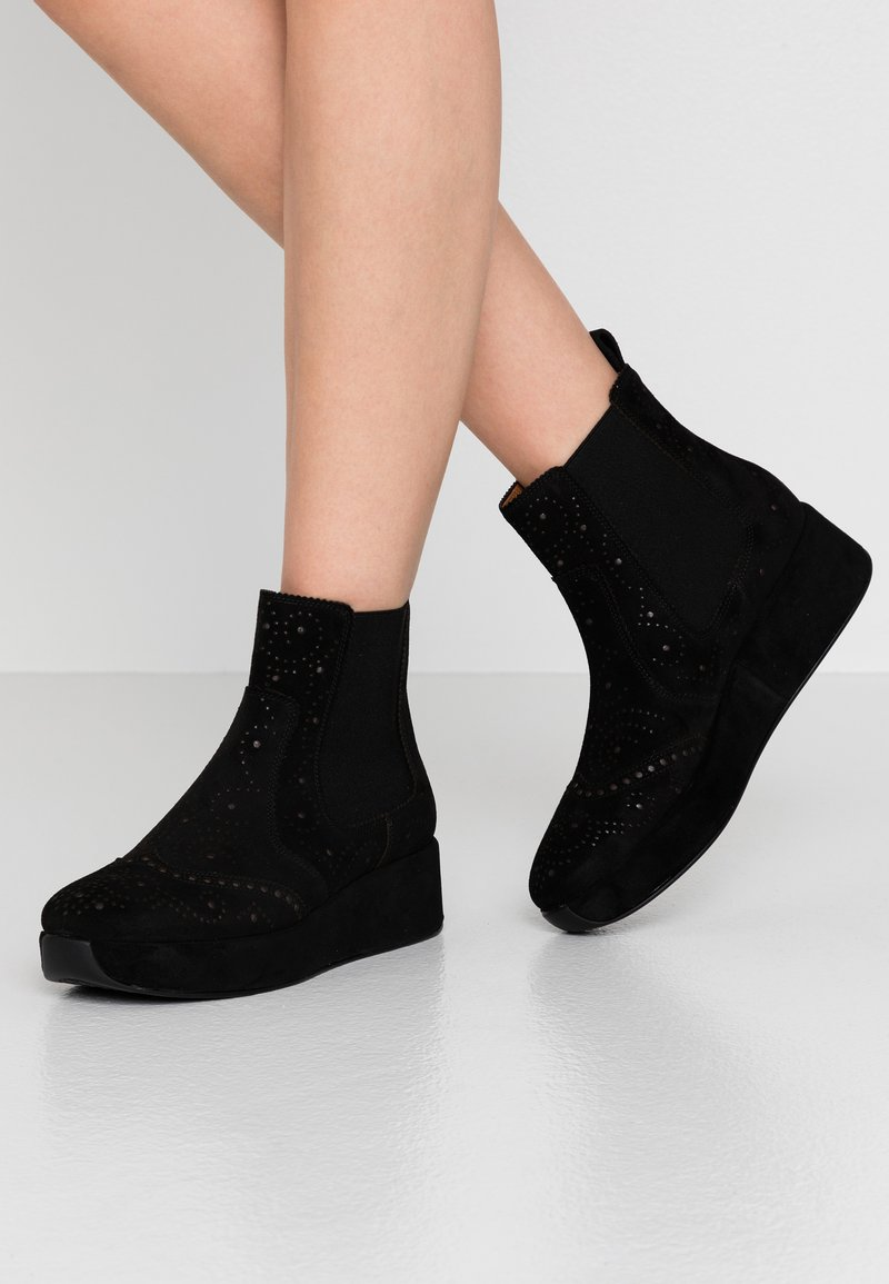 Pons Quintana - CARTIER - Wedge Ankle Boots - black