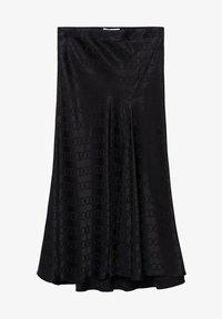 Mango - MIDI - A-line skirt - noir - 4